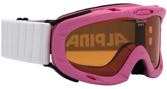 Alpina Ruby S Singleflex Hicon S1 goggles roze/wit